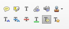 Adobe Acrobat Commenting Tools highlight tool