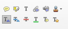 Adobe Acrobat Commenting Tools insert text tool