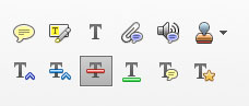 Adobe Acrobat Commenting Tools Strikethough Tool